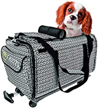 Premium Airline Approved Pet Carrier - Compact Pet Carrier with Wheels - Easy Click-Out Handle - Breathable Rolling Pet Carrier - Removable Wheels Pet Travel Carrier for Dogs and Cats up to 22 lbs