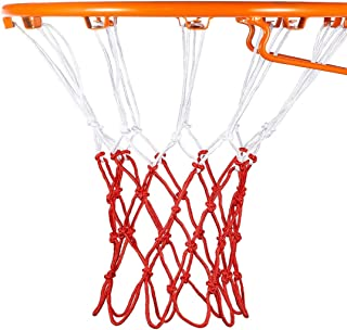 Flow.month 12 Loops Basketball net Replacement Thicker Ropes Weaved All Weather Bright Coloured Endurable Environment Friendly Polypropylene