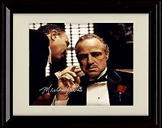 Framed Marlon Brando Autograph Replica Print - The Godfather