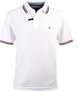 Men's Striped Collar Polo