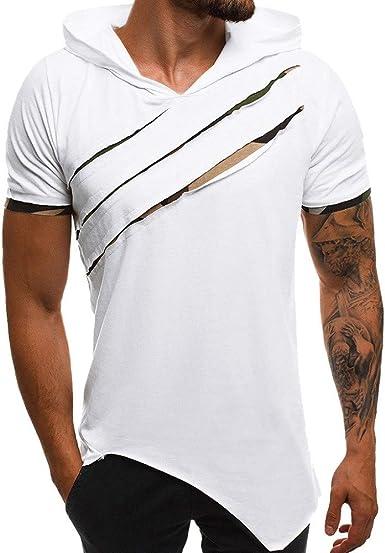 Sudadera con Capucha Hombre Camisetas Running Hombre ...