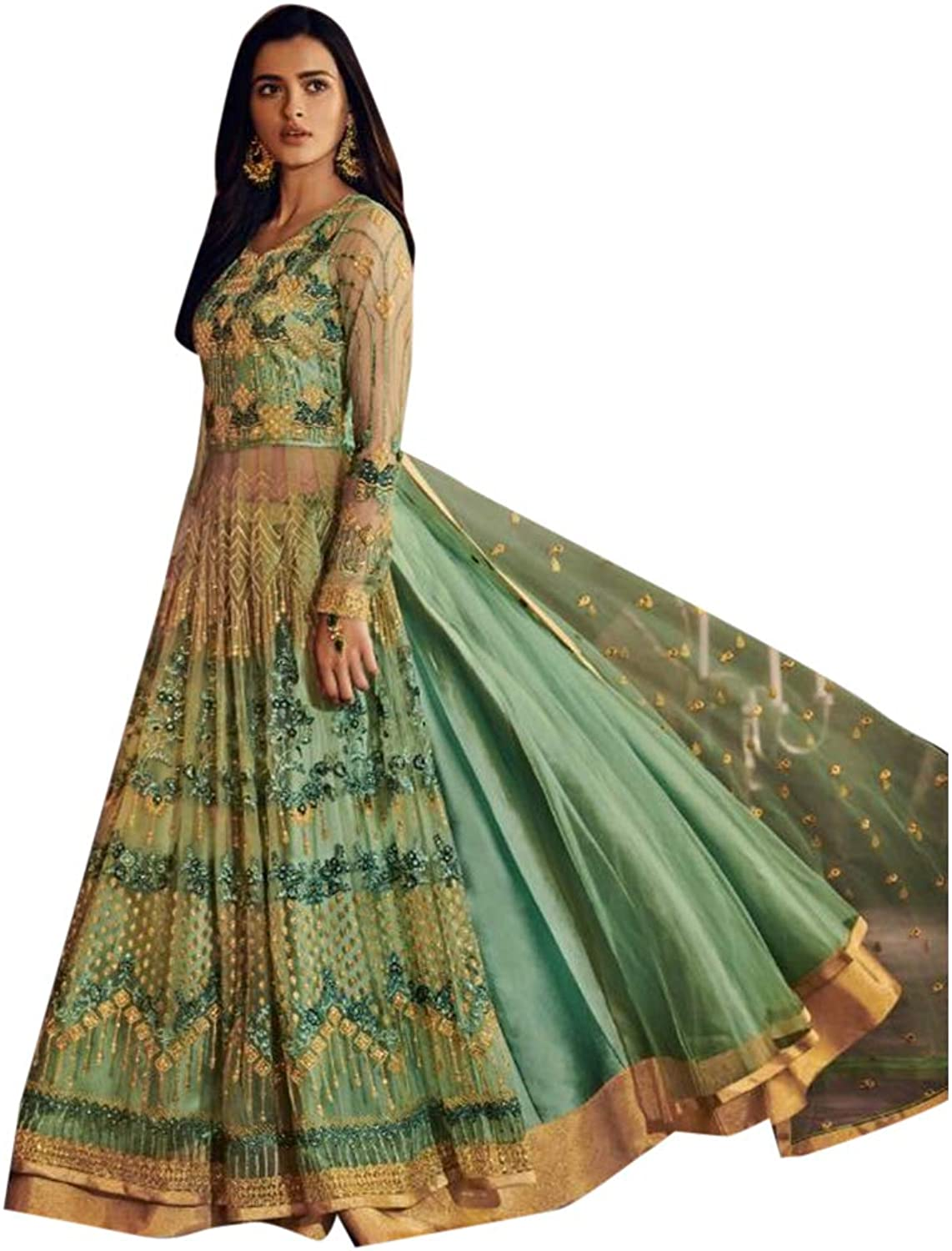 Indian Designer Collection Heavy Anarkali Salwar Kameez suit Long Dress Skirt Style Party Wear 7315