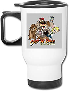 Chip N Dale Last Crusaders Indiana Jones Rescue Rangers 16 Oz Stainless Tumbler Double Wall Vacuum Coffee Mug With Splash Proof Lid For Hot & Cold Drinks
