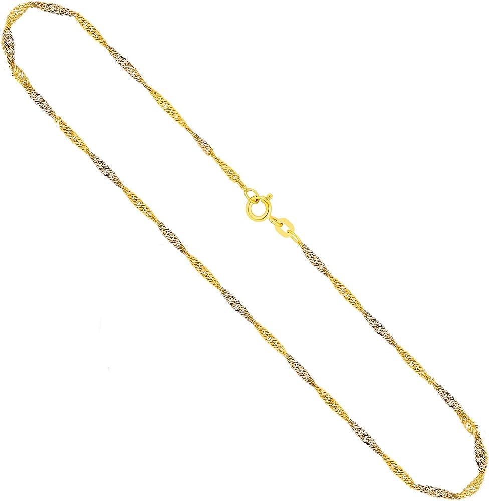 Edelweiss collana donna in  oro giallo di diversi carati 8/333-9/375-14/585/24/750(2gr) 70FBG0453