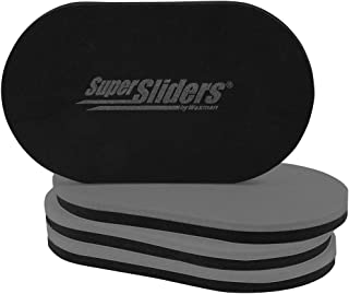 SuperSliders 4746595N Reusable XL Heavy Furniture Sliders for Hardwood Floors- Felt Floor Protectors, 9-1/2