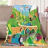 Knitted Blanket Train Toy Model Train Park Adult and Children Blanket, Better deep Sleep 30'x50'