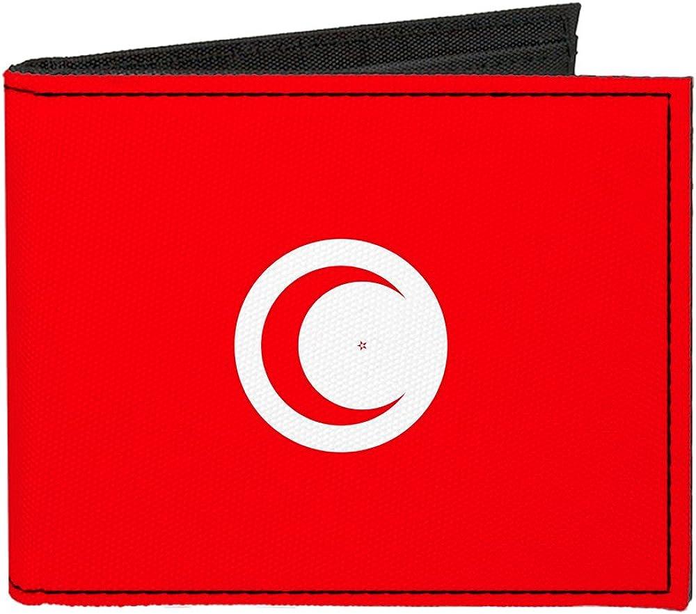 Buckle-Down Canvas Bi-fold Wallet-Tunisia Flag