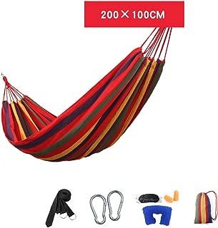 GXL Hammock, Outdoor Indoor Dorm Room Bedroom College Students Camping Swing Canvas Hammock (Color : 8)