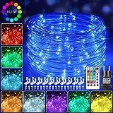 12m Bunt LED Lichtschlauch Außen, 120 LEDs Lichterschlauch IP68 Wasserfest mit Fernbedienung, 16...