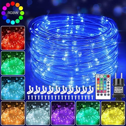 12m Bunt LED Lichtschlauch Außen, 120 LEDs Lichterschlauch IP68 Wasserfest mit Fernbedienung, 16 Farben 132 Modi LED Schlauch Lichterkette Strombetrieben mit EU-Stecker für Innen Außen Party Hochzeit