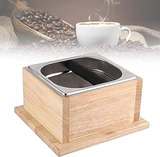 Tonysa Boîte à Produits, récipient à café en Acier Inoxydable et Base en chêne, boîte à Produits pour la Maison/Magasin de...