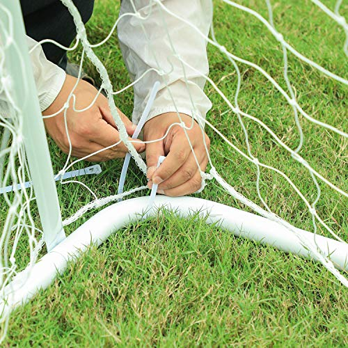 ORIENTOOLS Portable Football Goal Football Net with Locking System, Weatherproof Football Goal Post Net for Kids and Adults, Indoor/Outdoor Football Equipment with PE Net and Pegs, 10 x 6.5 FT