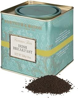 Fortnum & Mason British Tea, Irish Breakfast, 250g Loose English Tea in a Gift Tin Caddy (1 Pack) - Seller Model Id Libsfl098b - USA Stock