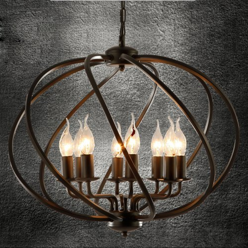 Industrial Adjustable Wrought Iron Vintage Retro Pendant...
