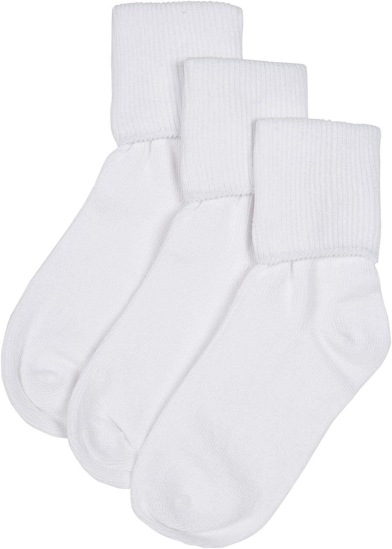 Jefferies Little Boys' 3 Pack Seamless Turn Cuff (Toddler/Kid)-White-9-1