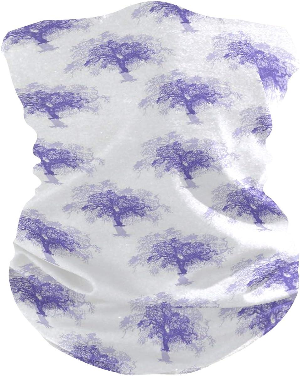 Blue Tree PatternPrint Headband Face UV Sun Protection Mask Neck Gaiter Magic Scarf Bandana Headwear Balaclava for Women Men
