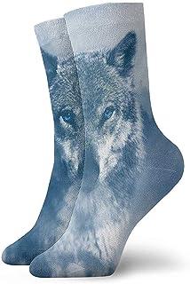 Kevin-Shop, Winter Cool Wolf Graphics Calcetines Tobilleros Calcetines Casuales y acogedores para Hombres, Mujeres, niños