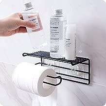 ZIZLY Bathroom Tissue Holder,Toilet Wall Mounted Toilet Paper Holder with Mobile Phone Storage Shelf,Bathroom Towel Storage Rack Hanger Organizer,Bathroom Shelf for Tissue,Tissue Rack