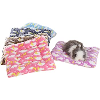 FLAdorepet Small Animal Guinea Pig Hamster Bed House Winter Warm Squirrel Hedgehog Rabbit Chinchilla Bed Mat House Nest Hamster Accessories