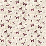 MyTinyWorld 5 Stück Puppenhaus Schmetterlinge auf blass Pfirsich Tapete Blätter