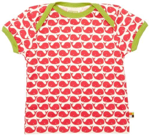 Loud and Proud Loud + Proud Unisex - Baby T-Shirts Tierdruck 204, Pink (Rosenrot ), 74/80