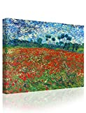 IPIC - Poppy Field Floral Vintage, Vincent Van Gogh Art Reproduction. Giclee Canvas Prints Wall Art for Home Decor 24#F(30X24)