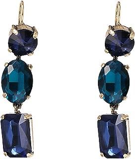 Black Crystal Dangle Earrings For Women Elegant Wedding Long Drop Earring Design Bohemian Jewelry