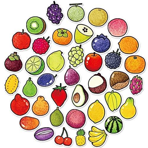 AXHZL Exquisita Caricatura de Frutas y Verduras Frescas Pegatina Cocina panadería Taza Nevera Juguetes educativos para niños 40 Uds