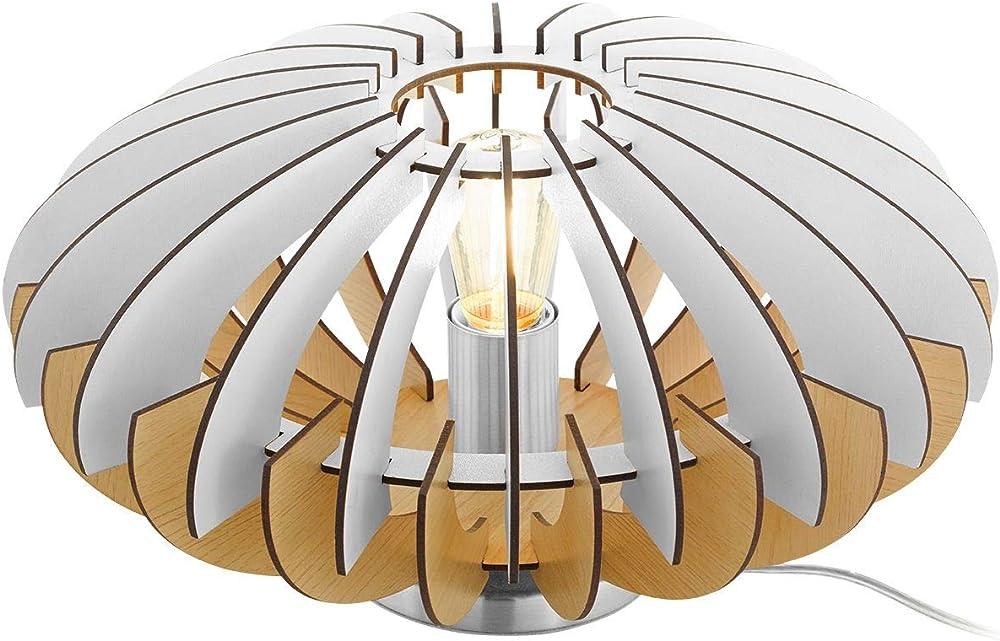 Eglo , lampada da tavolo , in legno e acciaio 96965