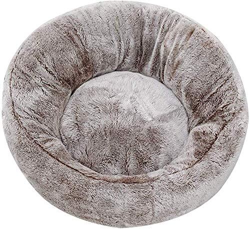 Soul heuvel hond bed huisdier bank waterdichte bodem, ronde vorm zachte donut huisdier bed bont donut knuffel voor katten papegaaien & kleine honden.huisdier Nest.-58x58cm, 50x50cm