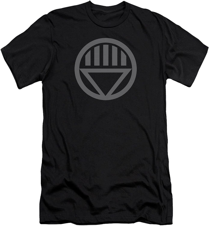 Green Lantern  Mens Grey Emblem Premium Slim Fit TShirt