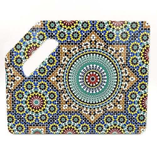 TORO DEL ORO | Tabla de cortar cocina - Tabla de cortar PVC reforzado - Preparar, trocear y picar - Diseños originales de azulejos andaluces (Triana)