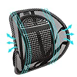 Lumbar Support, Big Ant Car Back Support with Massage Beads Ergonomic Designed for Comfort and Lower Back Pain Relief - Car Seat Lumbar Support for Driver, Office Chair, Wheelchair, Home