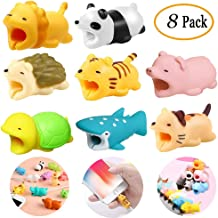 8 Pieces Cable Animal Bites Cute Animal Cable Protector for iPhone Cable Charging Cord Saver, Cute Creature Bites Cables Charger Protector Accessory