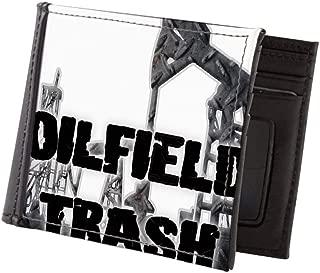 Oilfield Trash Diamond Plate Mens Wallet, Bi-fold Wallet, Billfold Money Holder