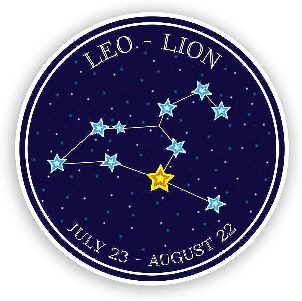 Leo - Lion Horoscope Constellations Round Metal 0.75