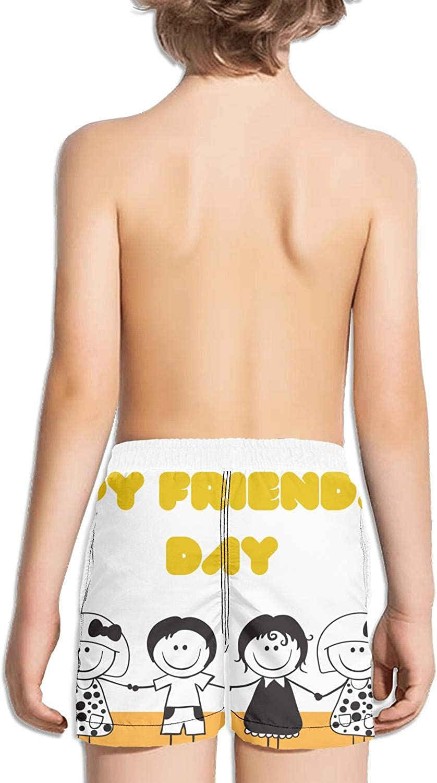 XULANG Kids Happy Pug Fest White Swimming Shorts Stretch Board Boys Swimming Trunks Elastic Girls Beach Shorts