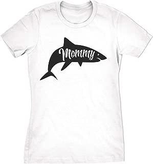 Womens Mommy Shark Tshirt Cute Family Tee for Ladies