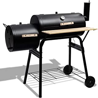 Moralty Outdoor BBQ Grill Barbecue Pit Patio Cooker,Patio BBQ Pit Smoker Charcoal Grill Cooker Concession Party Funny Cool...