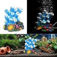 気泡ストーンニースサンゴの形水族館の水槽インテリアの酸素ポンプエアーポンプ駆動水槽のおもちゃ水槽の飾りの装飾 (Color : Air bubble coral)