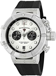 Swiss Legend Triton Chronograph Silver Dial Watch SL-10719SM-02S