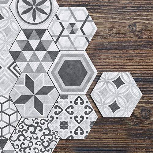 Industriële Stijl Nordic Zeshoek Tegel Stickers Badkamer Keuken Thuis Antislip Vloer Stickers DIY Splicing Muurstickers