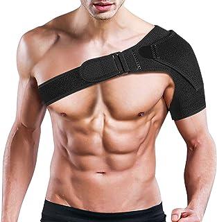 Hombrera Ajustable, Hombro Apoyo Transpirable con Paquete Frío Caliente, Soporte de hombro para Izquierda o Derecha, Dolor en el Hombro, Hombros Artríticos, Recuperación de Lesiones Deportivas