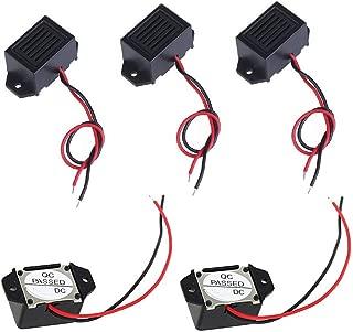 tatoko 5PCS Mini Buzzers with Leads - 1.5V 400Hz Morse Code Mechanical Electronic Components