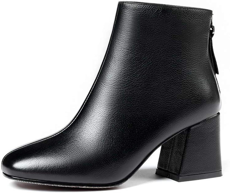 AdeeSu AdeeSu AdeeSu kvinnor Bucket - Style Värme Lining Casual läder stövlar SXE04928  mycket populär