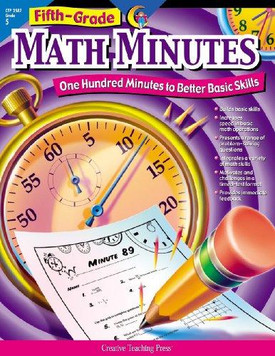 Creative Teaching Math Minutes, 5th Grade activity workbook (100 minutes to better basic skills)