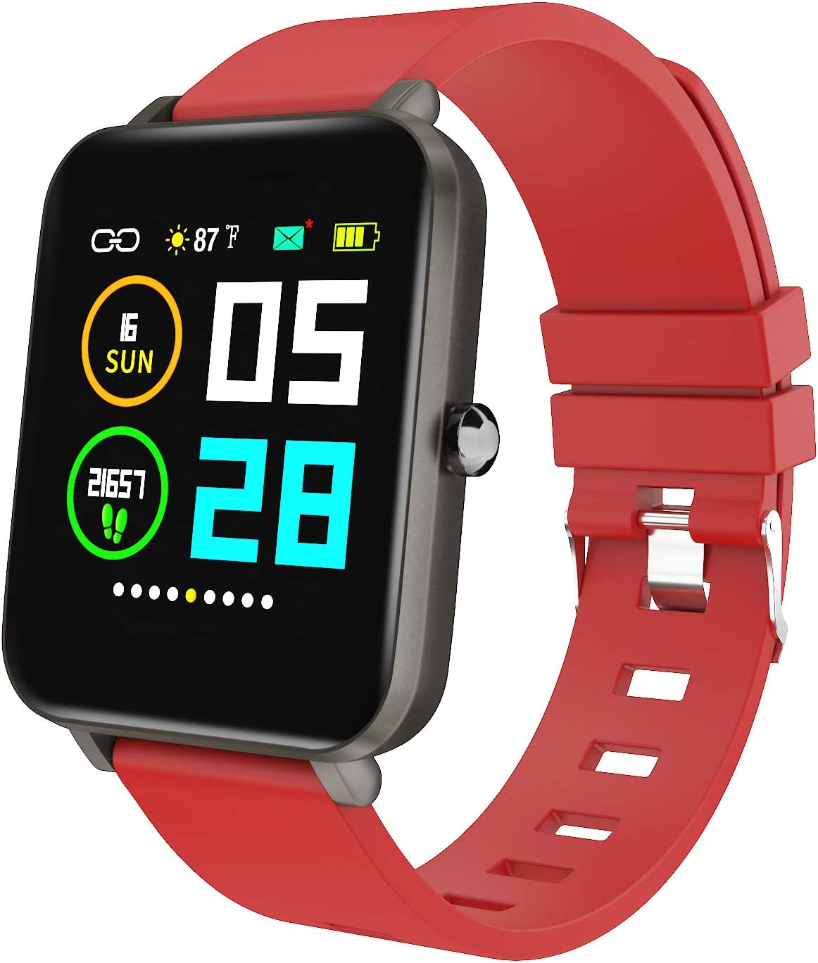 Amazon.com: Zagzog Multifunctional Smart Watch for Men Women Compatible for  iOS Android Phones, 1.54