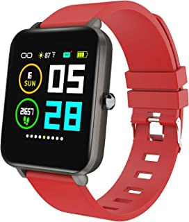 """Zagzog Multifunctional Smart Watch for Men Women Compatible for iOS Android Phones, 1.54"""" Large Screen Square, Step Counter, All-Day Activity Tracking, IP68 Waterproof, Ultra-Long Battery Life"""