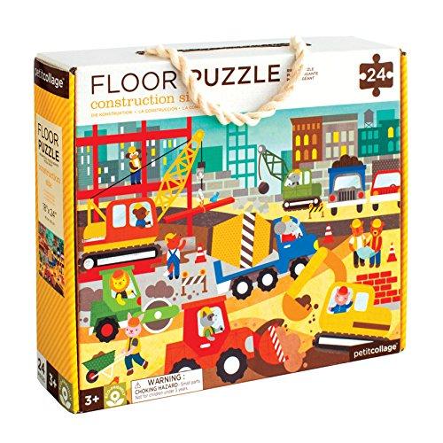 Petit Collage Construction Site Floor Puzzle, 24 Pieces