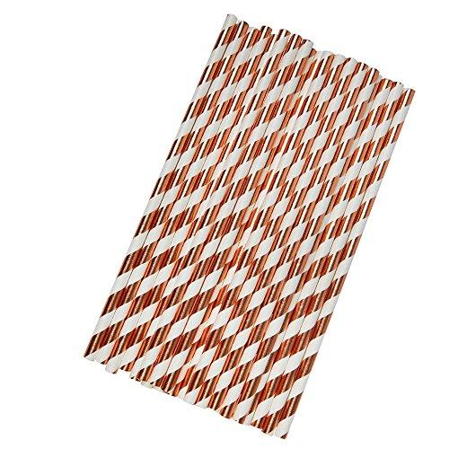 Neviti–Geo Blush–Cannucce di Carta–Rosa, Oro, Confezione da 25